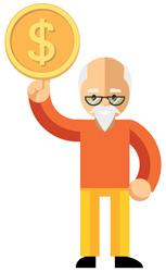 viejito moneda